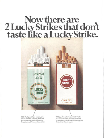 Lucky Strike Cigarettes Page LIFE December 2 1967