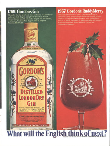 Gordons Gin Christmas Page LIFE December 2 1967