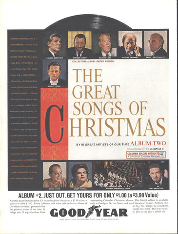 Goodyear Columbia Records Christmas Songs #2 Page LIFE November 30 1962