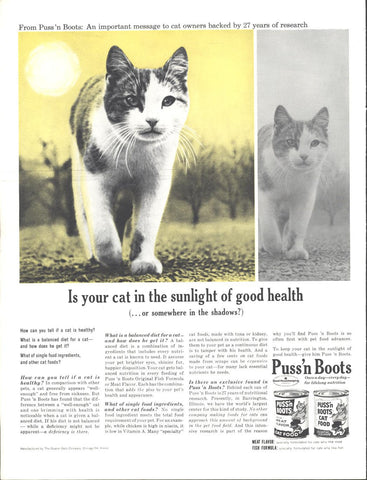 Puss N Boots Cat Food LIFE November 30 1962