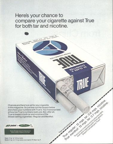 True Cigarettes Page LIFE November 19 1971