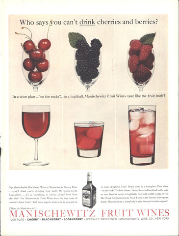 Manischewitz Fruit Wines LIFE December 14 1959