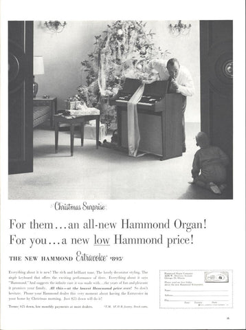 Hammond Electric Organ Christmas Page LIFE December 14 1959