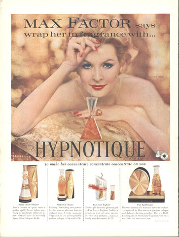 Max Factor Fragrances Christmas Page LIFE December 14 1959
