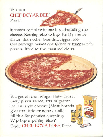 Chef Boy Ar Dee Pizza Mixes Page LIFE December 14 1959