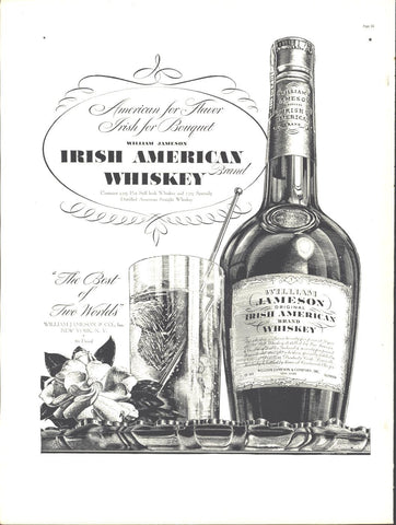 Jameson Irish American Whiskey Page LIFE August 30 1937