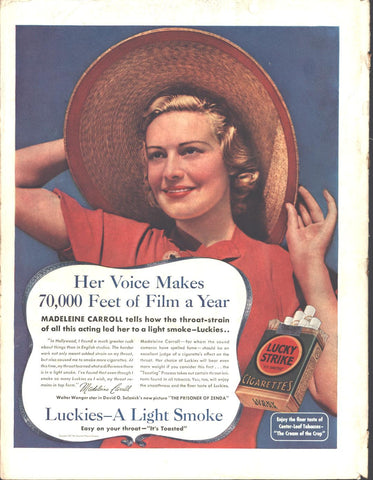Lucky Strike Cigarettes Page LIFE August 30 1937