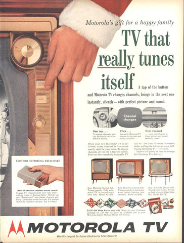 Motorola Wireless Remote Television Christmas Page LIFE November 19 1956