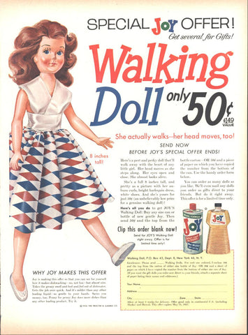 Joy Dish Soap LIFE November 19 1956