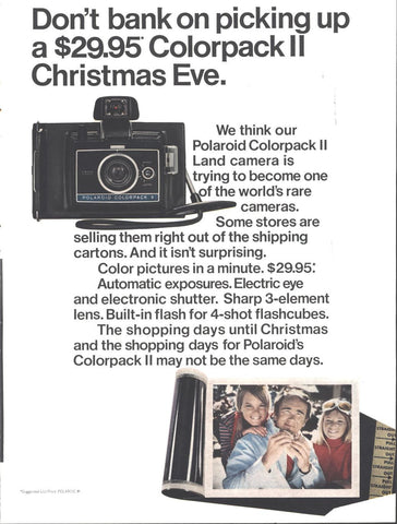 Polaroid Colorpack 2 Camera Christmas Page LIFE November 21 1969
