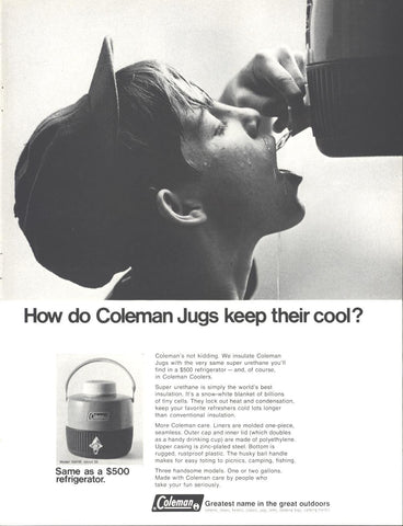 Coleman Cooler Jug Page LIFE August 9 1968