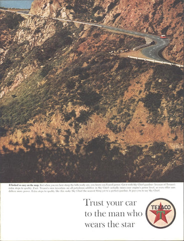 Texaco Skychief Gasoline Page LIFE May 24 1963