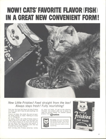 Little Friskies Cat Food Page LIFE May 24 1963