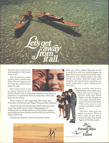 United Airlines Page LIFE April 19 1968