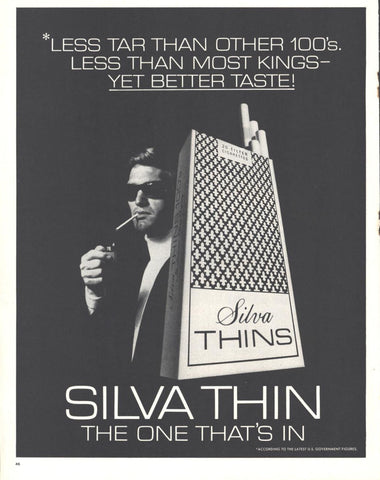 Silva Thin Cigarettes Page LIFE April 10 1970