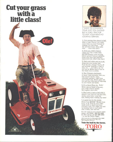 Toro Lawn Tractor Page LIFE April 10 1970