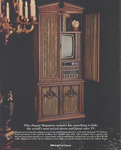 Magnavox Television Stereo Armoire Page LIFE January 30 1970