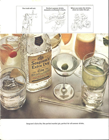Seagram's Extra Dry Gin LIFE August 11 1967