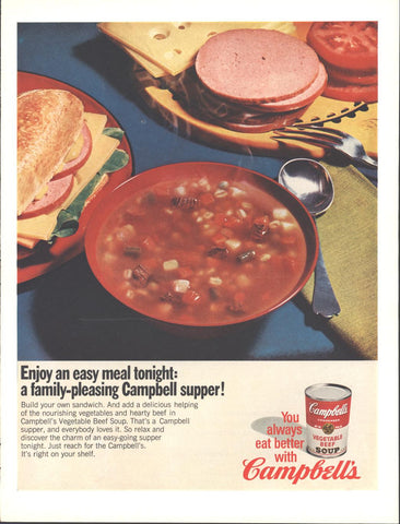 Campbells Vegetable Soup Page LIFE August 11 1967