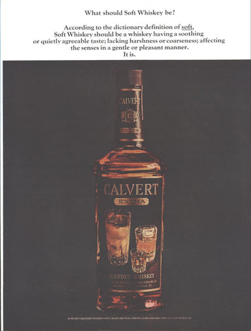 Calvert Soft Whiskey Page LIFE November 8 1963