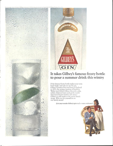 Gilbey's London Dry Gin LIFE August 27 1965