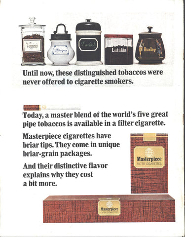 Masterpiece Filter Cigarettes LIFE August 27 1965
