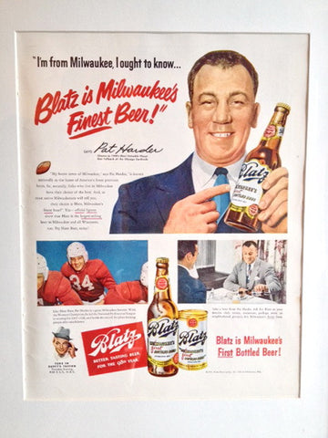 Blatz Beer Pat Harder LIFE December 26 1949