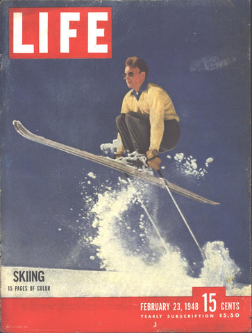 Cover Skiing LIFE February 23 1948