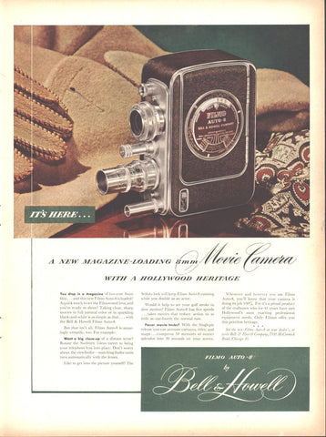 Bell & Howell 8mm Movie Camera Page LIFE February 23 1948