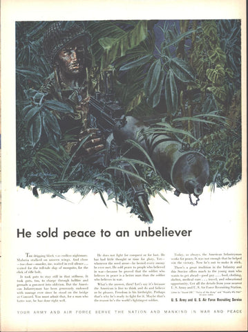 U.S. Army and Air force Recruitment Page LIFE February 23 1948