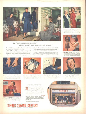 Singer Sewing Centers LIFE February 23 1948