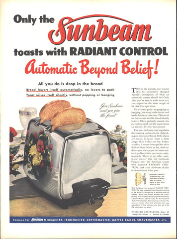 Sunbeam Automatic Toaster LIFE October 8 1951