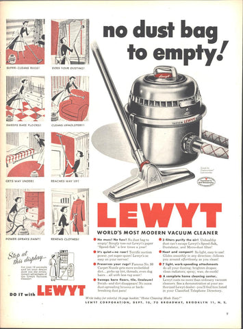 Lewyt Vacuum Cleaner Page LIFE October 8 1951