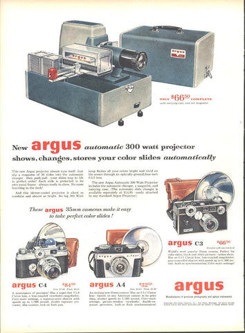 Argus 300 Watt Projector LIFE September 13 1954