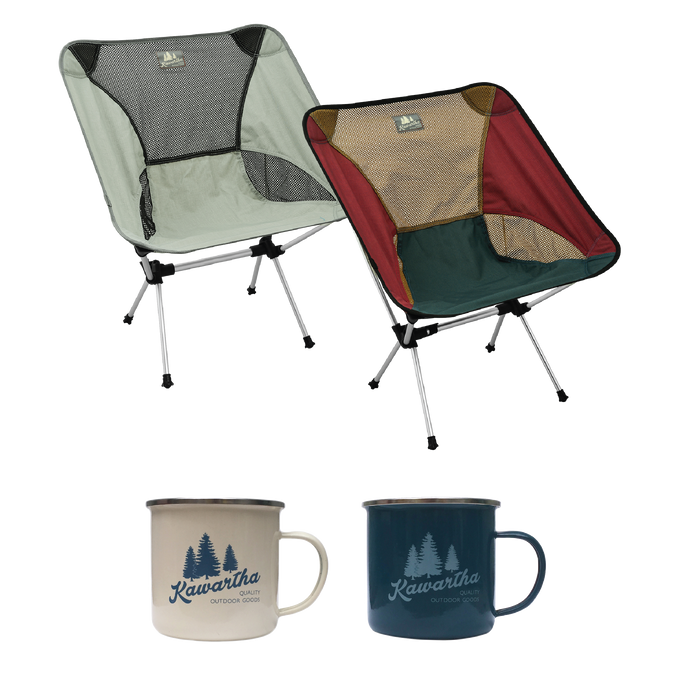 Camp Fire Set - (Grey/Maroon)