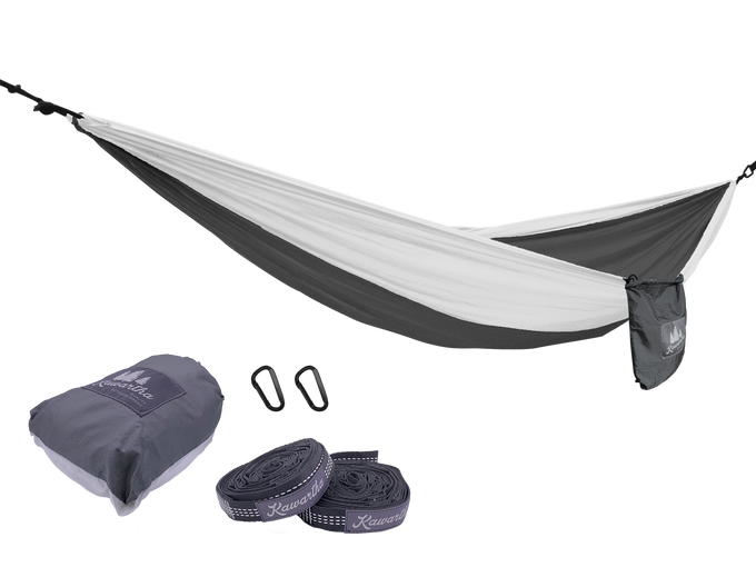 HiRise Packable Hammock (White/Grey)