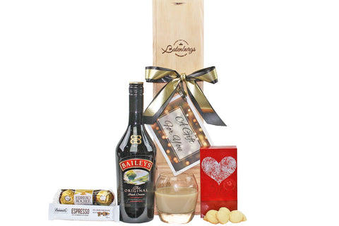 Gift box with Bailey's Liqueur chocolates and shortbread delivered NZ wide. Batenburgs Gift Hampers