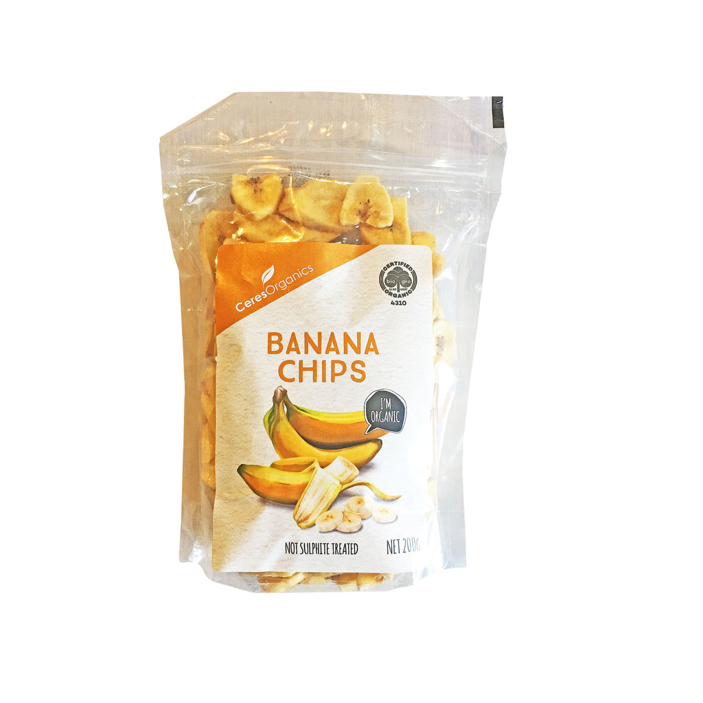 Organic banana chips toasted in coconut oil and lightly sweetened with coconut sugar and a little honey from Batenburgs Gift  Hampers NZ