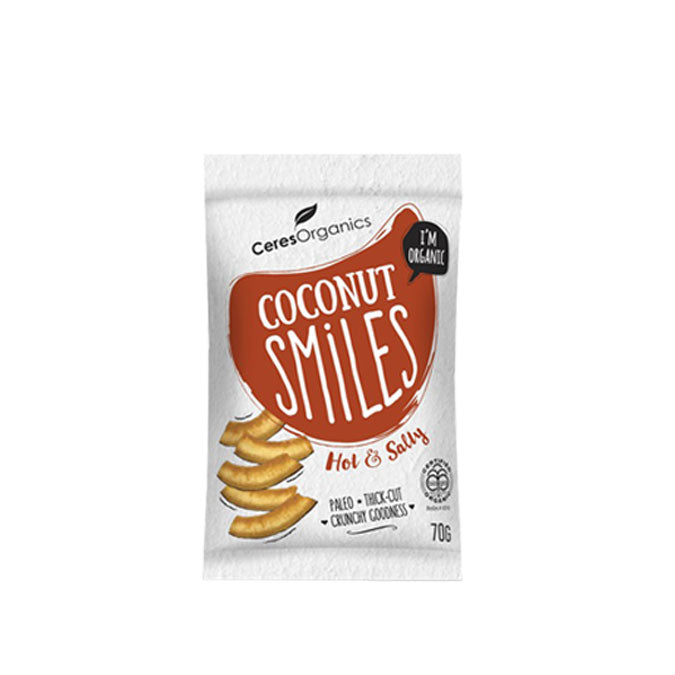 Organic coconut crispy snacks ideal for those on a paleo, gluten-free, dairy-free, low sugar, vegan and egg-free diet.