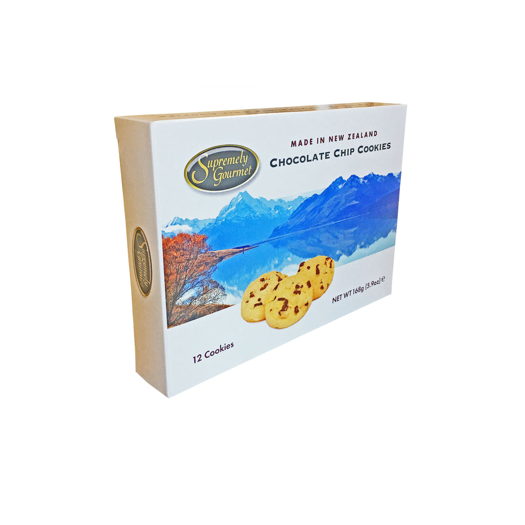 New Zealand chocolate chip cookies gift box from Batenburgs Gift Hampers