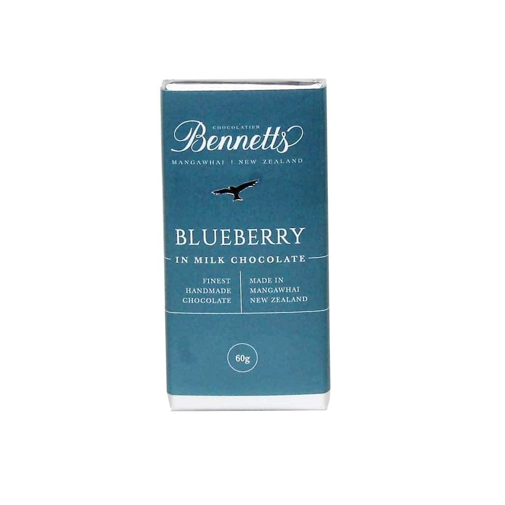 Blueberry milk chocolate bar from Batenburgs gift hampers NZ