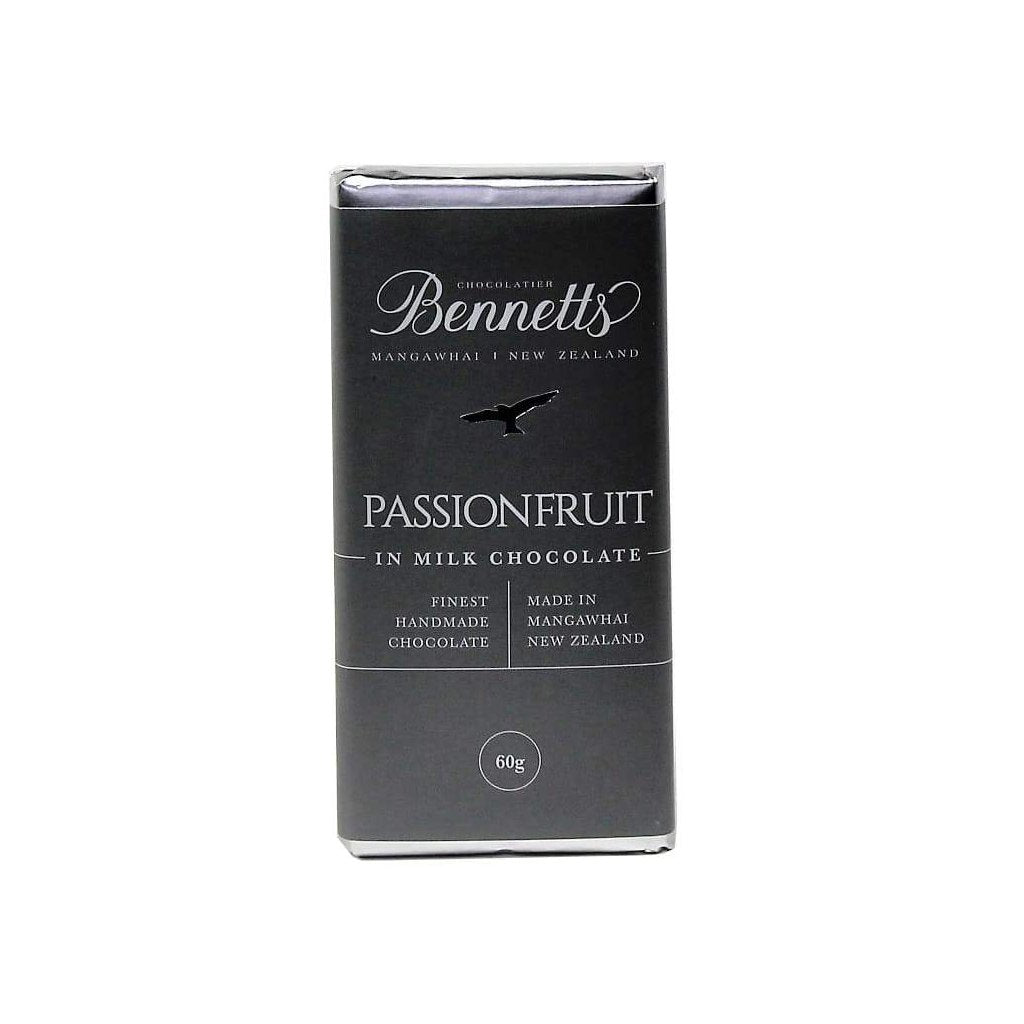 Bennetts of Mangawhai passionfruit chocolate bar to add to any Batenburgs gift hamper