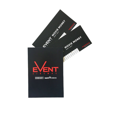 Movie tickets gift for 2 adults at any Event cinema New Zealand