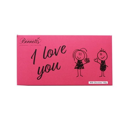 Chocolate message bar I Love You from Batenburgs gift baskets NZ