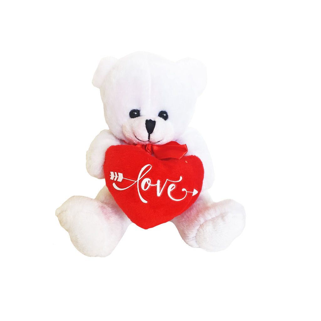 Love soft teddy ideal for Valentine's Day delivered NZ wide from Batenburgs Gift Hampers