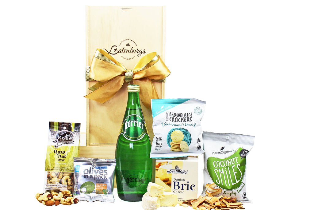 Lower sugar food hamper with mineral water delivered NZ wide