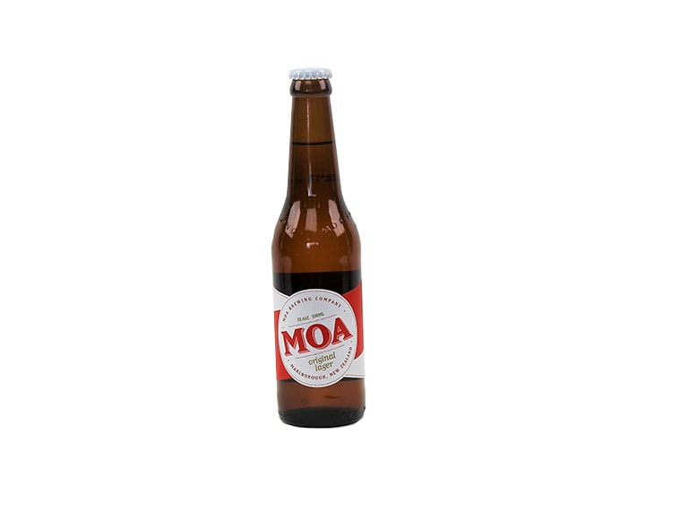 Bottle NZ Moa craft lager from Batenburgs gift hampers NZ