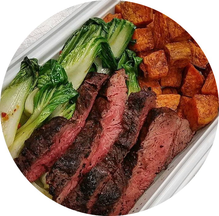 Grilled Sirloin Steak - No Carbs - Fitdishfoods
