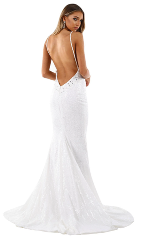Roselle Luxe Gown - White