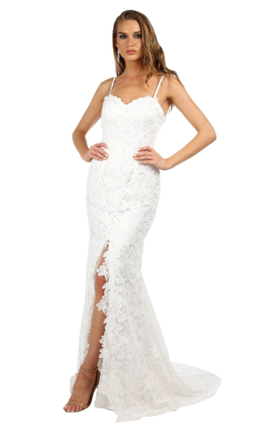 Eden Lace Gown – White